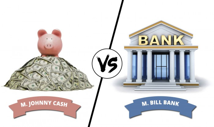 CASH VS BANK